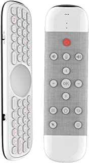 ミニキーボード エアマウス 一体型 キーボードマウスコンボ 2.4Gワイレスキーボード IR学習リモートコントロール 6軸慣性センサ USBレシーバー付き HTPC/スマートTV/Android TV BOX/オールインワンPC/ラップトップ/...