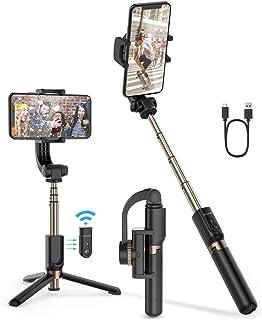 Selfie Stick Tripod, BlitzWolf Mini Extendable Selfie Stick Bluetooth with Anti-Shaking Stabilizer and Automatic Balance, ...