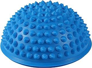 ハーフラウンドPVCマッサージボールヨガボールフィットネスエクササイズジムマッサージ5色(青)