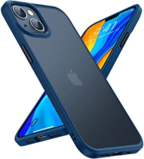 TORRAS Stoßfest für iPhone 13 Hülle (Echter Militärischer Schutz) Schutzhülle Matt Anti-Kratzen Hard PC Back und Soft Sili...