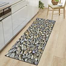 Cobblestone Pattern Modern Carpet Bathroom Entrance Door Mat Washable Nonslip Kitchen Floor Mat 50x160cm