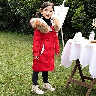 FDSAD Chaqueta Abrigada para Niñas Sección Larga Nueva Ropa De Invierno para Niños Abrigo Grueso para Niñas Adecuada para ...