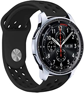 Veczom 20mm Watch Strap for Galaxy Watch 42mm, Gear Sport, Gear S2 Classic SM-R732/R735,Huawei Watch 2 Sport, Galaxy Watch Active, Silicone Quick Release Soft Rubber Replacement Band for Men and Women