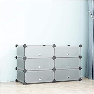 SIMPDIY Zapatero Cubos 2x3 Cubos Almacenamiento zapateros ModularUnidad Gran Capacidad organizadores Zapatos con Door S...