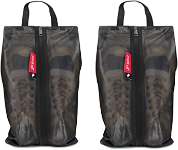 2-Pack Pack All Water-Resistant Shoe Travel Bags with Zipper