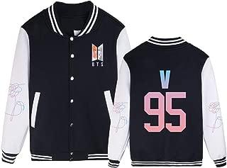 Kpop BTS Love Yourself Baseball Uniform Jacket Bangtan Boys Suga Jimin V Jin J Hope Unisex Hoodie Sweater Coat