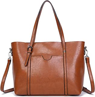 Best faux leather tote with zipper Reviews