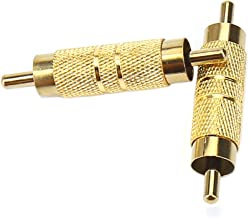 Devinal Professional RCA Male to Male RCA Coupler Adapter Converter Connector Gold Plated (2 Pack)