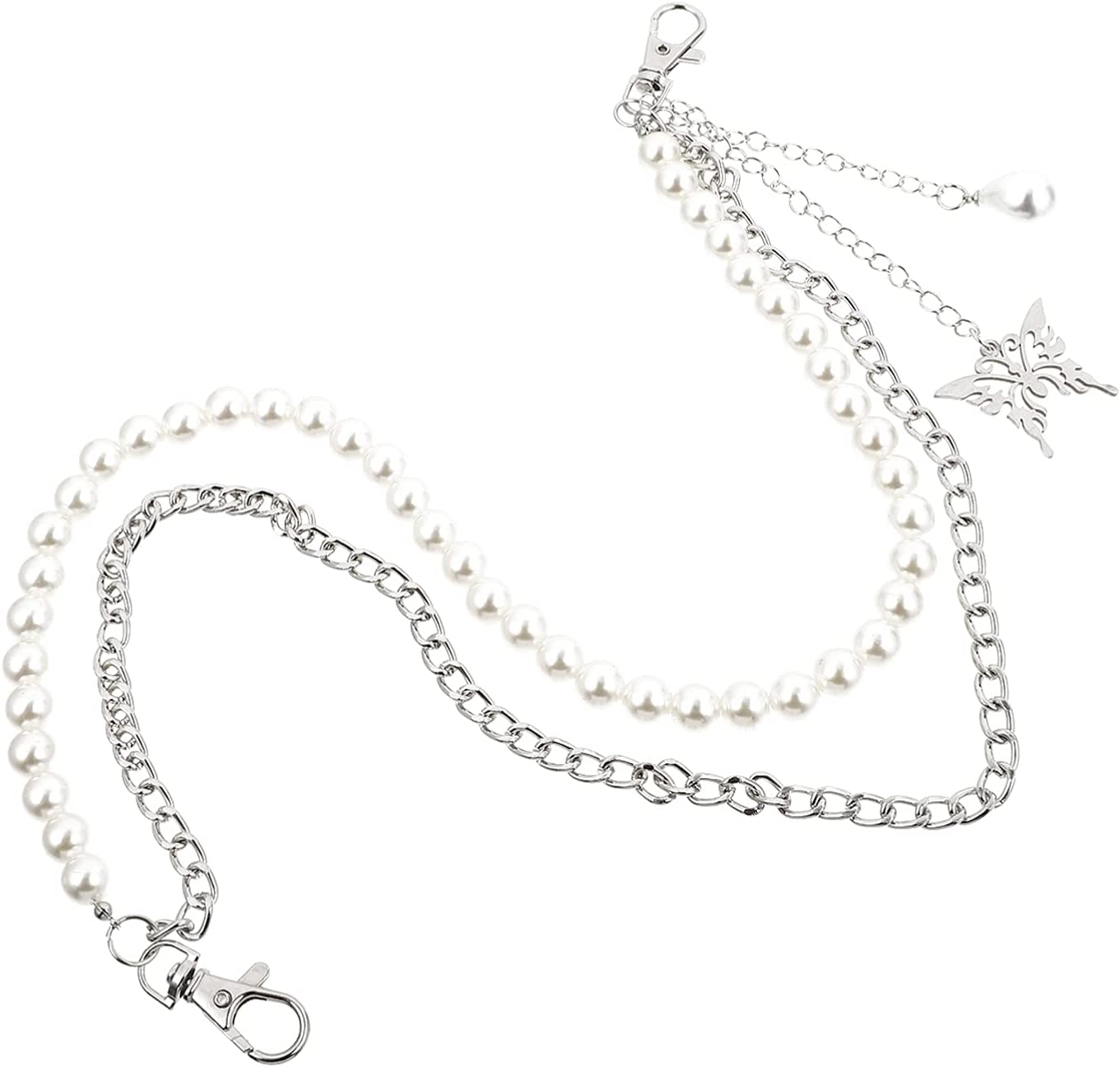 BESTOYARD 2Pcs NEW before selling Body Chains Belt Crystal Free shipping / New P Waist Butterfly