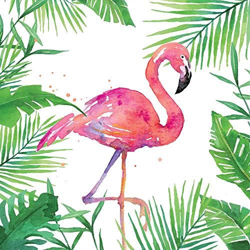 Paperproducts Design PPD 1252707 Tropische Flamingo Dranken/Koekenstaart Papier Servetten, 13cm x 13cm, Multi kleuren
