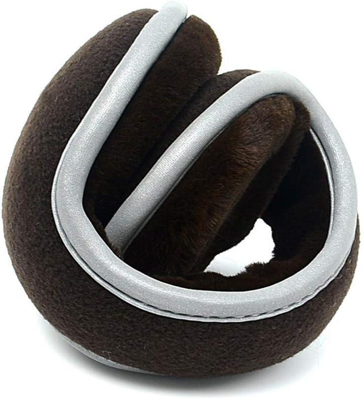 ZYXLN-Earmuffs,Reflective Earmuffs Men's Earmuffs Earmuffs Keep Warm Safety Bike Earmuffs Protective Body Equipment Foldable Ear Warmers Winter Ear Muffs (Color : Brown)
