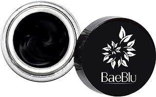 BaeBlu Organic Gel Eyeliner Pot, 100% Natural Waterproof Non-Irritating, Create Any Look, Very Black