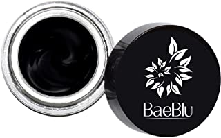 BaeBlu Organic Gel Eyeliner Pot, 100% Natural Waterproof Non-Irritating, Create Any Look, Very Black