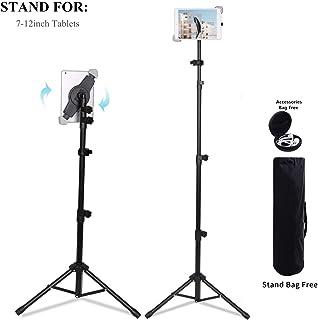 Soporte universal para trípode portátil de altura ajustable Soporte para iPad / iPad Air / iPad Mini / todas las tabletas de 7-12 pulgadas con bolsa (For 7-12 inch)
