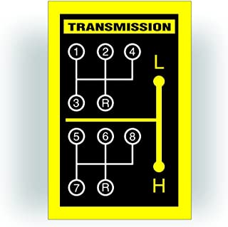 Solar Graphics USA Transmission Shift Pattern Decal - Compatible with Garden, Lawn Or Farm Tractor 8 Speed - 3.5x2.25 inch