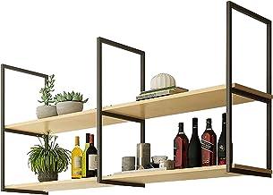 Metalen Zwevende Planken, Industriële Plafondbalk Organisatieplank, 2-laags Opbergrek Voor Weergave, Opslag En Decor, Met ...