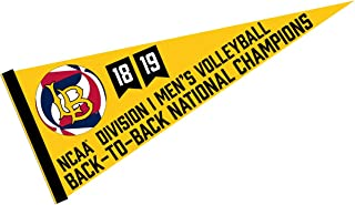 College Flags and Banners Co. Cal State Long Beach 49ers Mens Volleyball National Champions Pennant