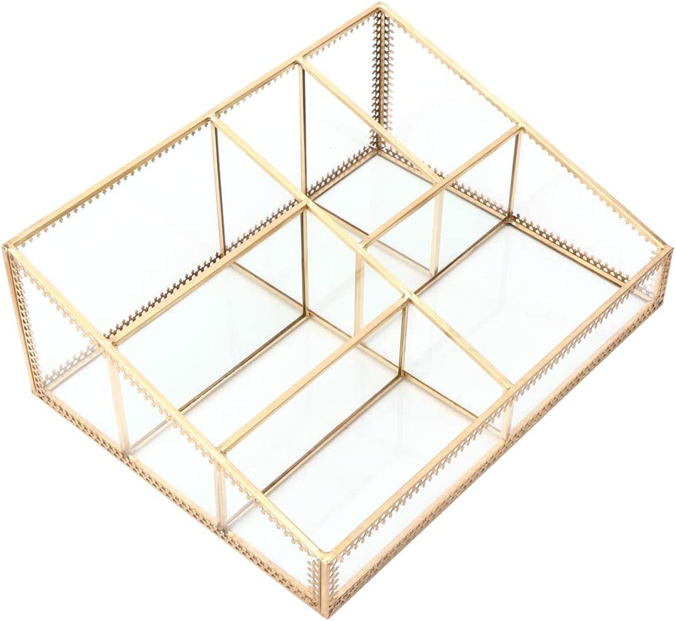 SALUTUY Cosmetics Organizer Storage Box Bar Award-winning store Copper Color 5% OFF Golden