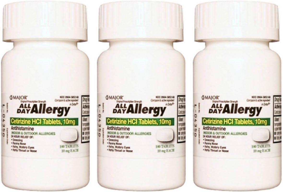 Major All Day 3 Pack Allergy Max 40% OFF Nashville-Davidson Mall