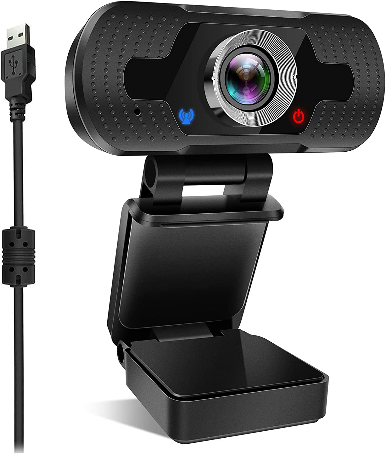 Webcam, USB Camera with Microphone For PC Autofocus Plug & Play Built-in Mic Full Ultra HD 1080P Web Camera Video Cam For Youtube,Skype, FaceTime,Hangouts,WebEx,Desktop,Computer/Mac/Laptop/Macbook