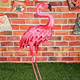 SHIJIU SHIMENG Flamingos Gartendekoration, Metall, Flamingo-Statue