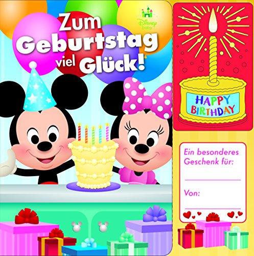 Disney Baby - Micky und Minnie - Zum Geburtstag viel Glück! - Geburtstags-Soundbuch mit 1 Melodie und leuchtender Kerze - Pappbilderbuch für Kinder ab 12 Monaten