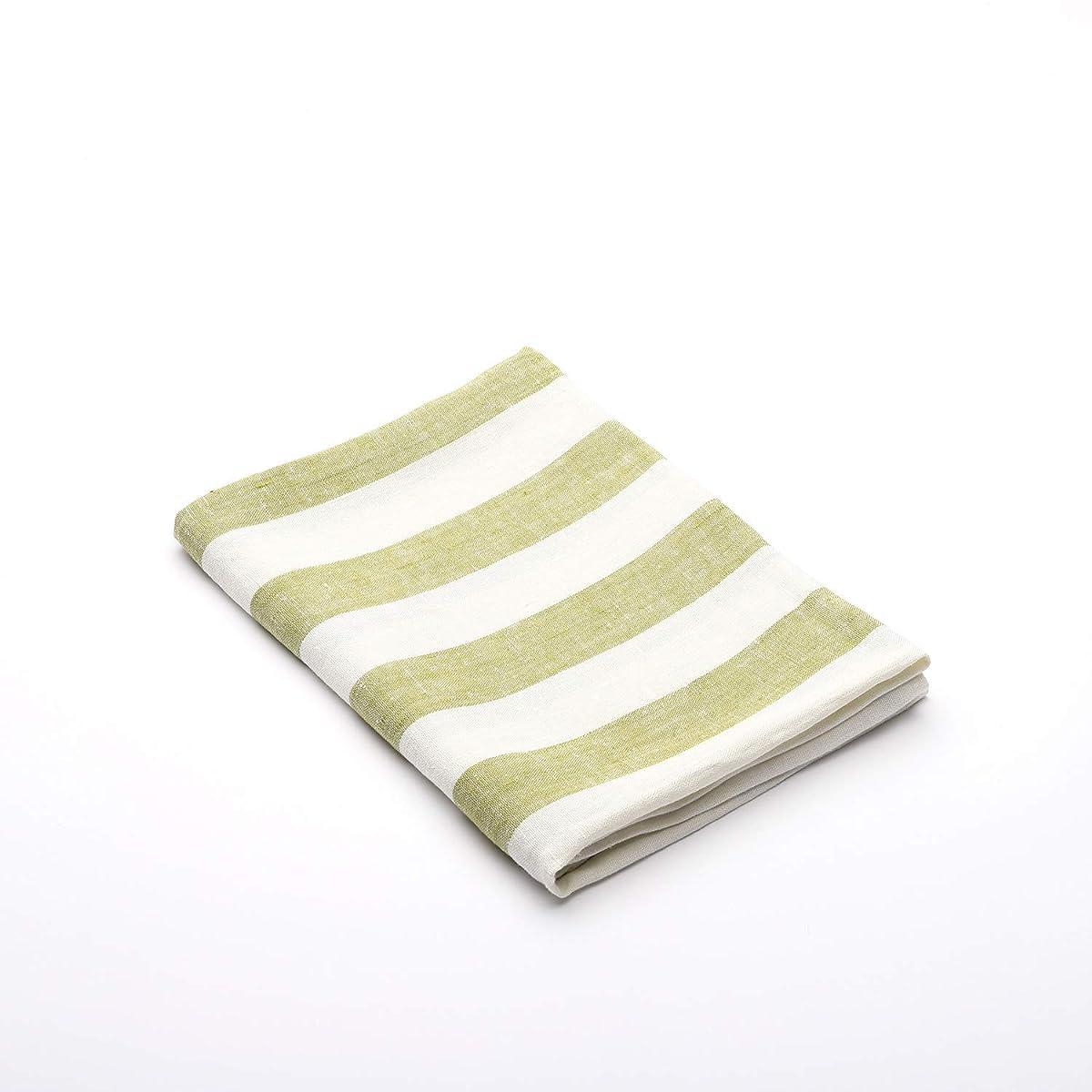 の面では価値のない弾丸(65 x 135 cm) - LinenMe 65 x 135 cm Linen Philippe Bath Towel, Green