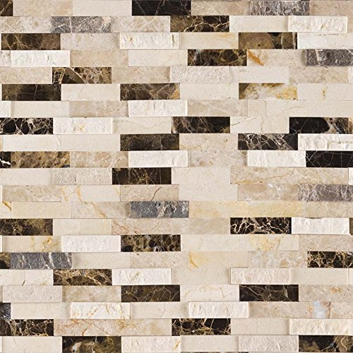 MSI Stone SMOT-PNS-EMPBSF-6MM Emperador Blend Split face Peel and Stick Pattern Tile with MISC Finish Brown