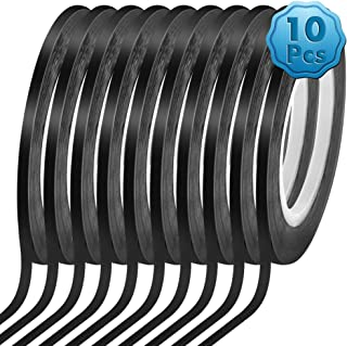 Cridoz 10 Rolls 1/8 Pinstripe Tape Dry Erase Board Tape Whiteboard Thin Tape Lines Pinstriping Graphic Chart Line Grid Mar...