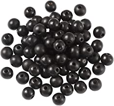 Craftdady 400Pcs Natural Round Wooden Ball Spacer Beads 12mm Black Brown Ivory Natural Color Wood Loose Beads for DIY Jewelry Making Hole 2.5-3mm