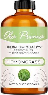 Ola Prima 8oz - Premium Quality Lemongrass Essential Oil (8 Ounce Bottle) Therapeutic Grade Lemongrass Oil