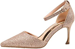 Ying-xinguang Shoes Fashion Thin Single Shoes Sequins with Professional Women's Shoes Women's High-Heeled Comfortable