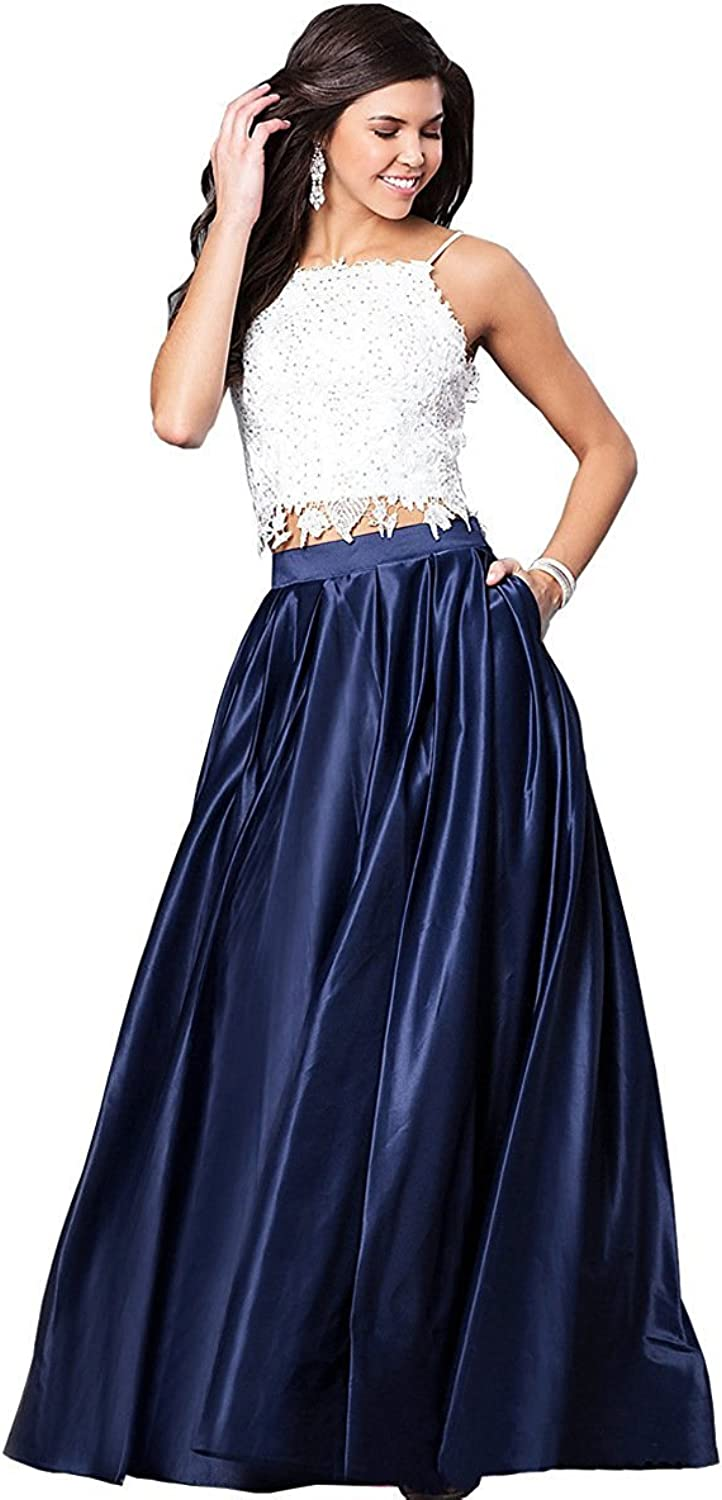 BEALEGAN Lady Women's Lace Two Pieces Prom Evening Dress Cocktail Party Gown