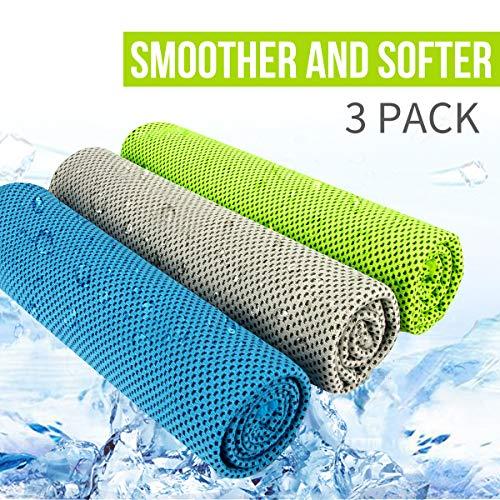 Asciugamano Sportivo - Microfibra Asciugamano, Asciugamano Rinfrescante, Asciugamano Ghiaccio - Palestra Asciugamano D\'acqua y Asciugatura Rapida per Yoga Beach Golf Viaggi per Uomo Donna (3 pezzi)