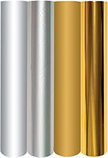 Spellbinders GLF-011 4 Metallic Gold & Silver Variety Pack Glimmer Hot Foil Roll, Multicolor