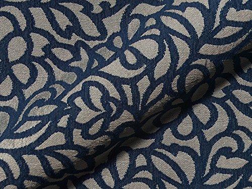 Möbelstoff MIAMI FR 755 Muster Abstrakt Farbe blau als robuster Bezugsstoff, Polsterstoff beige gemustert zum Nähen und Beziehen, Polyester FR, schwer entflammbar