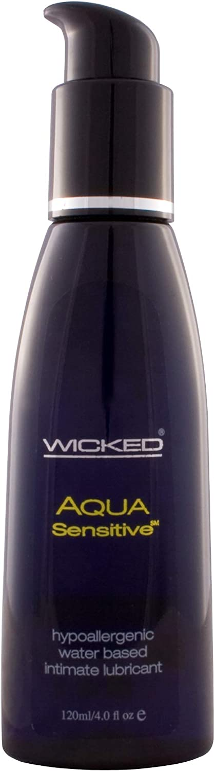 Wicked OFFicial store Aqua Sensitive Max 73% OFF Unscent Lube 4 of Package 4oz