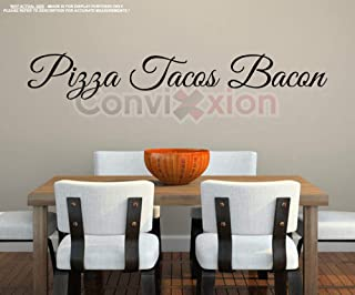 pizza bacon tacos wall decal