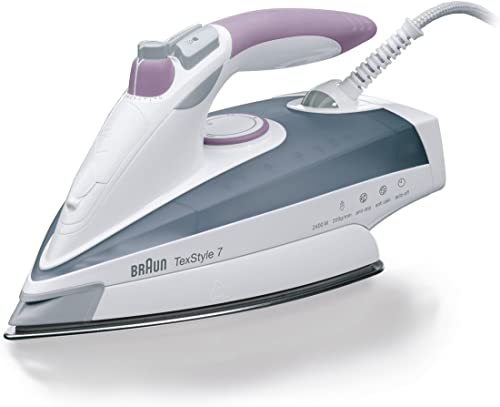 Braun   TexStyle 7, Steam Iron   TS755A   60% More Steam and Intense Power   Irons Resilient Wrinkles   Grey/Mallow