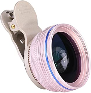 Dpofirs 2 In1 Clip Lens Kit,Universal Phone Camera Lens,0.45X HD Super Wide Angle + 12X Macro Camera Lens for Cell Phone a...