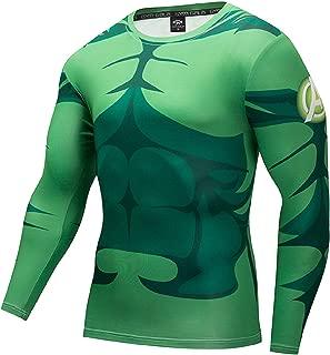 The Hulk Classic Logo Men's Long Sleeve Cool Dry Compression Sport Fitness T-Shirt