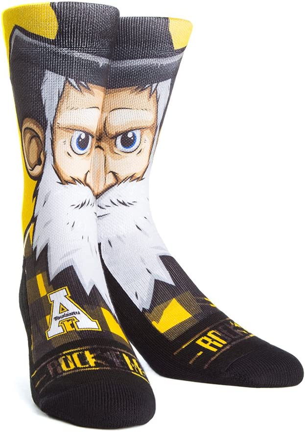NCAA Appalachian Seattle Mall State Mountaineers Custom Crew Socks Athletic We OFFer at cheap prices