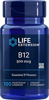 Life Extension B12, 500 Mcg, 100 Dissolving lozenges