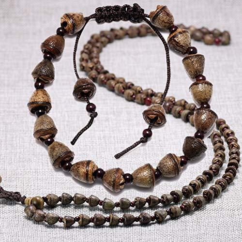 IFVCS Bodhi armband natuurlijke kleine bel Bodhi zaad 108 kralen armband handgemaakte Tibetaanse boeddhisme