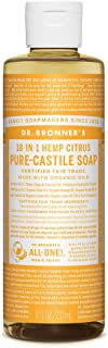 Dr. Bronner's - Pure-Castile Liquid Soap (Citrus, 8 ounce) - Made with Organic Oils, 18-in-1 Uses: Face, Body, Hair, Laundry, Pets and Dishes, Concentrated, Vegan, Non-GMO