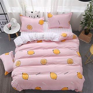 Colcha Cuatro juegos de ropa de cama de cama Juego de cuatro fundas de almohada de algodón cepillado ropa de cama adecuado...
