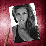 Seasons Adriana Lima - ACEO Sketch Card (Signed by The Artist) #js001