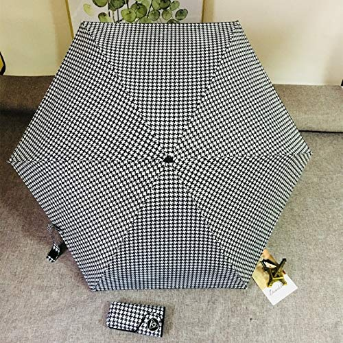 Anti-uv Pocket Mini Paraplu Regenmeisje Storm Riem Duurzaam 5 Vouwparaplu Draagbare zonnebrandcrème Vrouw Parasso