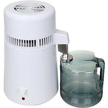 Destilador de agua, purificador profesional interior del acero inoxidable del filtro de agua 4L 750W con el múltiple para la oficina casera de la cocina: Amazon.es: Hogar