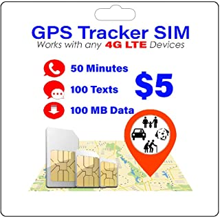GPS Tracker SIM Card - Pet Kid Senior Car - 4G Tracking Device - 30 Day Service - USA Canada & Mexico Roaming
